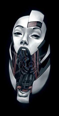 Ravishing Robot Women - Future Face by Billy Nuzez Shows the Mechanical Innards of Gorgeous Ladies (GALLERY) Cyberpunk Aesthetic, Cyberpunk Art, Draw Tips, Science Fiction, Female Cyborg, Gi Joe, Arte Robot, Robot Girl, Organic Face Products
