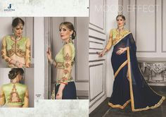 Catalog MOQ : Fullset Total Design : 10 Catalog Name: Jaichitra Kajree Category : Saree Price : 14440 Fabric : Chiffon Brand : Jaichitra Fashion, New Jaichitra Kajree Saree Catalog