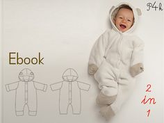 Coverall Cassia Sewing Pattern Ebook 2 variants, Sewing Patterns, Baby Sleep Sack Pattern, Toddler Sleep Sack