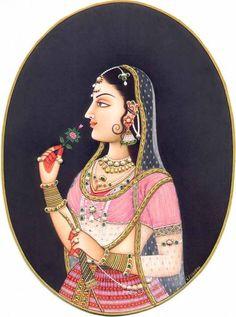 Rajasthani paintings: Radhe Krishna paintings are quite prominent in Rajasthani paintings. Rajasthani paintings started around - century in western India. Ever wondered how the Rajput kings Pichwai Paintings, Mughal Paintings, Krishna Painting, Madhubani Painting, Indian Art Paintings, Krishna Art, Radhe Krishna, Rajasthani Miniature Paintings, Rajasthani Painting