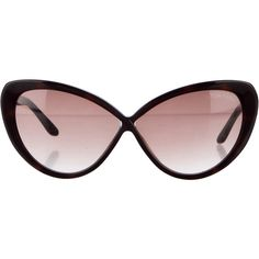 Pre-owned Tom Ford Acetate Cat-Eye Sunglasses (458.490 COP) ❤ liked on Polyvore featuring accessories, eyewear, sunglasses, brown, tom ford, cat eye glasses, acetate glasses, brown gradient sunglasses and tom ford glasses
