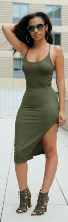 Olive / Fashion by Spikes and Sequins