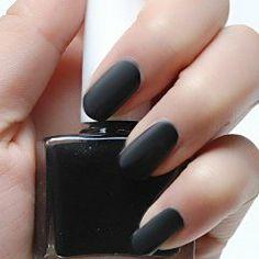 Black Matte Nail Polish - Beatnik Black - Modicure - Manicure Nail Wraps and Nail Foils