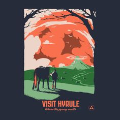 Awesome 'Visit+Hyrule' design on TeePublic!