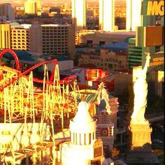 Las Vegas corm from Excalibur hotel room