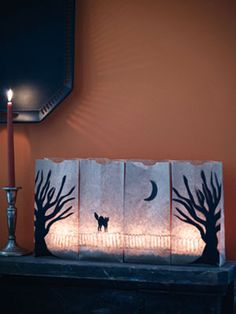 Easy Halloween Crafts – Scary Tabletop Scene for Halloween at WomansDay.com - Woman's Day