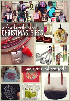 Gifts that Give Back: 10 Charity Gift Favorites | traci (with an i).com