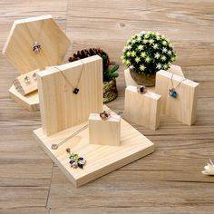 >> Click to Buy << lot of 5 Solid Wood Jewellery Display Block Nature Jewelry Display Holder Jewelry Display Block  #Affiliate