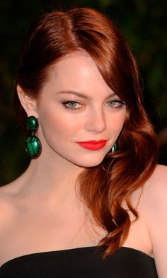 Color Cobrizo, Hair Color, Red Haired Actresses, Actresses With Red Hair, Red Hair Celebrities, Celebs, Ema Stone, Emma Stone Hair, Red Hair Looks