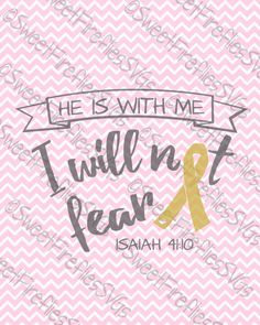 Childhood Cancer Awareness SVG Fear Not by SweetFirefliesSVGs