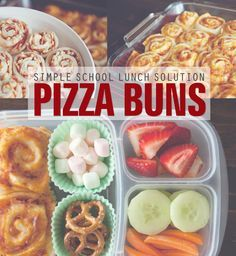 Pizza Buns: A Simple School Lunch Solution-- a great way to DIY those unCool processed pizza snacks. Make sure to use organic cheese & pasture raised meat in yours!