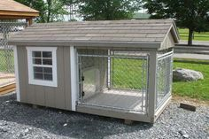Outdoor:How To Build A Dog Kennel White Trimmed How to Build a Dog Kennel