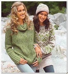 Два пуловера спицами.