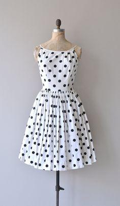 Five Spot dress vintage 1950s dress polka dot 50s by DearGolden