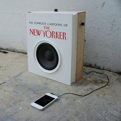 An Audio Book Upcycled Literally Into Both a Book and a Speaker
