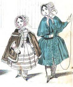 Early Victorian Era Children's Clothing - March 1843 Godey's Lady's Book http://4.bp.blogspot.com/-2pLVS9ubSWE/TdHGFbGLwqI/AAAAAAAAAOM/3WGDQyHrYEk/s1600/1843-03%252Bgodeys%252Bchildren2.jpg
