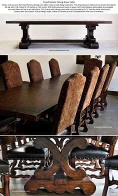 See Tuscan Dining Room Tables at Accents of Salado Furniture Store. Shop for the holidays early. Tuscan Furniture, Dining Room Furniture, Dining Furniture, Rustic Furniture, Furniture Decor, Outdoor Furniture, Inexpensive Furniture, Furniture Movers, Cheap Furniture