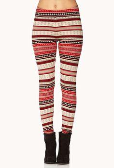 Cozy-Chic Fair Isle Leggings | FOREVER21 - 2061970157