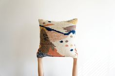 Hand woven on a pedal loom by skilled artisans in Guatemala, The Cartographer Pillow is 100% wool with ...