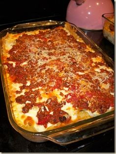 Pioneer woman lasagne recipe~This was the 1st recipe from the Pioneer ...