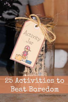 Kids Activity Jar : How to Beat Boredom