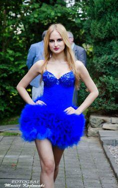 Blue dress by Carolina Dudrova