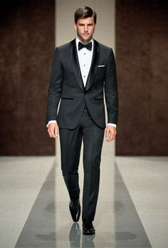 Nothing is worse than an ill-fitting tux.  This is what men need to be shopping for[: