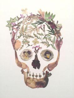 Flower skull 11/sold