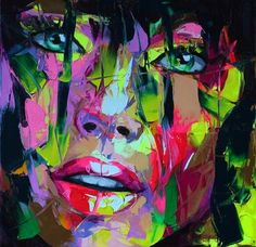 Francoise Nielly is a phenomenal French artist that uses oil and a knife to sculpt vibrantly breathtaking and colorful paintings. Abstract Portrait, Portrait Art, Portraits, Colorful Paintings, Beautiful Paintings, High Art, Medium Art, Les Oeuvres, Painting & Drawing