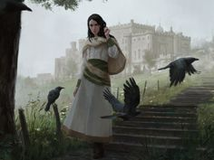 Stunning art of a young Lili by Karla Ortiz for Magic Origins