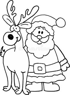 Illustration about Santa Claus with reindeer. Illustration of myth, face, reindeer - 6623736 Santa Claus Drawing Easy, Reindeer Drawing, Xmas Drawing, Drawing Santa, Peppa Pig Pictures, Peppa Pig Coloring Pages, Easy Christmas Drawings, How To Draw Santa, Christmas Coloring Pages