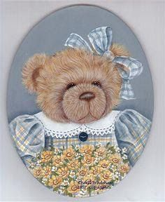 PINTURA COUNTRY - Ana Cecilia Chaverri - Álbumes web de Picasa Lace Painting, China Painting, Painting Patterns, Painting & Drawing, Teddy Bear Party, Teddy Bear Cartoon, Cute Teddy Bears, Bear Paintings, Teddy Bear Pictures