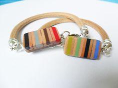 https://www.etsy.com/it/listing/257587932/bracciale-braccialetto-uomo-donna-a #leatherbracelet #leather #accessories #wood #pencilcolorsjewels #stationery #pencilcolors #jewelsforman #leatherbraceletforman