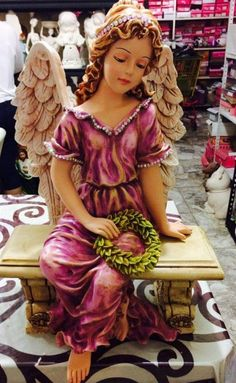 Angel Garden Statues, Garden Angels, Space Saving Shoe Rack, Angel Artwork, Poster Background Design, Cake Topper Tutorial, I Believe In Angels, Concrete Crafts, Forest Fairy