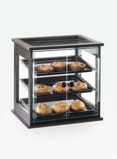 Midnight Bamboo Self Serve Case Item: 284-S-96. This Display case will complement any bakery, coffee shop, breakfast setting or market. Along with the classy wood frame, this case features dual front doors to create a simple and stylish self-service. This item is a great way to make any food service area look modern and organized. http://www.calmil.com/index.php?page=shop.product_details&flypage=flypage.tpl&category_id=48&product_id=1663&option=com_virtuemart&Itemid=3#sthash.JwFNr