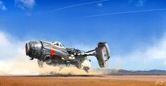 Desert racing vehicle by Dmitry Kolomeets