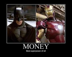 Iron Man and Batman: make it rain!