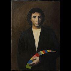 Stefano Di Stasio, Autoritratto, 1977olio su tela, cm 100 x 70 x 2, collezione dell'artista