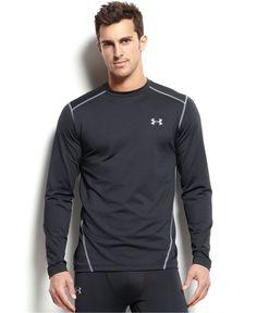 Under Armour Men's Cold Gear Long-Sleeve Athletic Crew-Neck T-Shirt - Underwear - Men - Macy's
