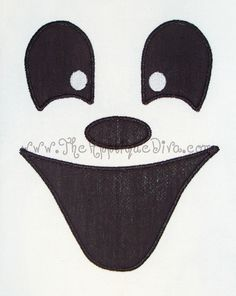 Halloween Boy Ghost Face Embroidery Design Machine Applique. $2.99, via Etsy.