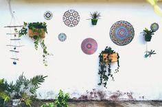 ohdeardrea: Brightening Up Our Garden Wall! Boom, Color!