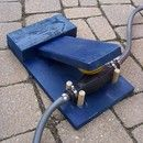 DIY foot pump for running water// must be adaptable for air experiments with kids!(LA)