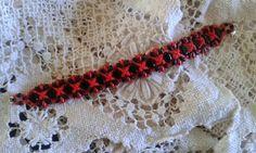 Bracelet rouge et noir silky et superduos