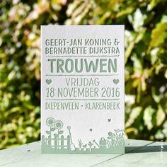 Trouwkaart Geert-Jan en Bernadette