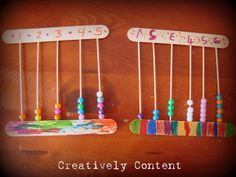 Creatively Content: Homemade abacuses