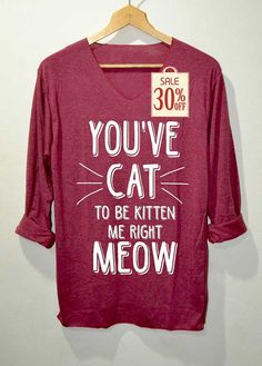 Hey, I found this really awesome Etsy listing at https://www.etsy.com/listing/221579225/cat-shirts-red-long-sleeve-unisex-adults