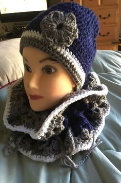 9d8d7678c Dallas Cowboys Infinity Scarf   Hat set! ~by Charolette Crochet Stars