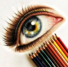 60 Beautiful and Realistic Pencil Drawings of Eyes | Read full article: http://webneel.com/40-beautiful-and-realistic-pencil-drawings-human-eyes | more http://webneel.com/daily | Follow us www.pinterest.com/webneel