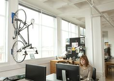Get the most out of unused wall space with Endo #small #office #bike  sc 1 st  Pinterest & 16 best Bike storage at the office images on Pinterest   Bike ...
