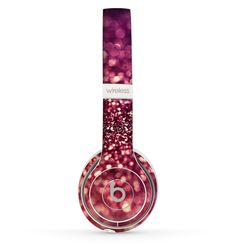 The Unfocused Purple & Pink Glimmer Skin Set for the Beats by Dre Solo 2 Wireless Headphones